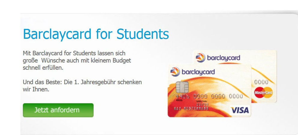 Barclays Bank: Barclaycard for Students